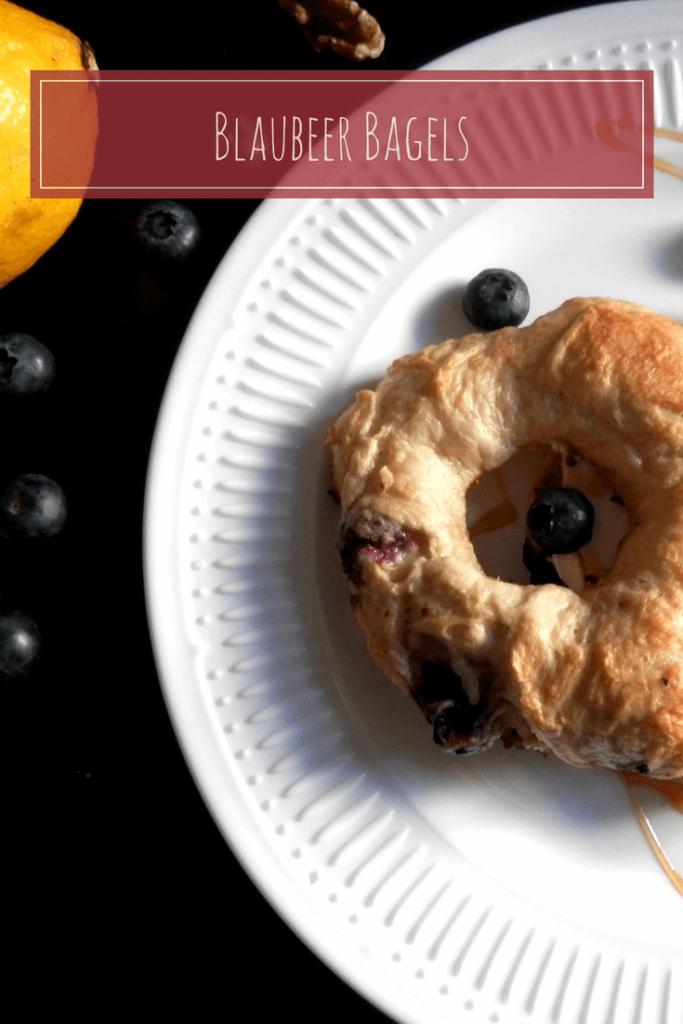 ladybella blaubeer bagels frühstück