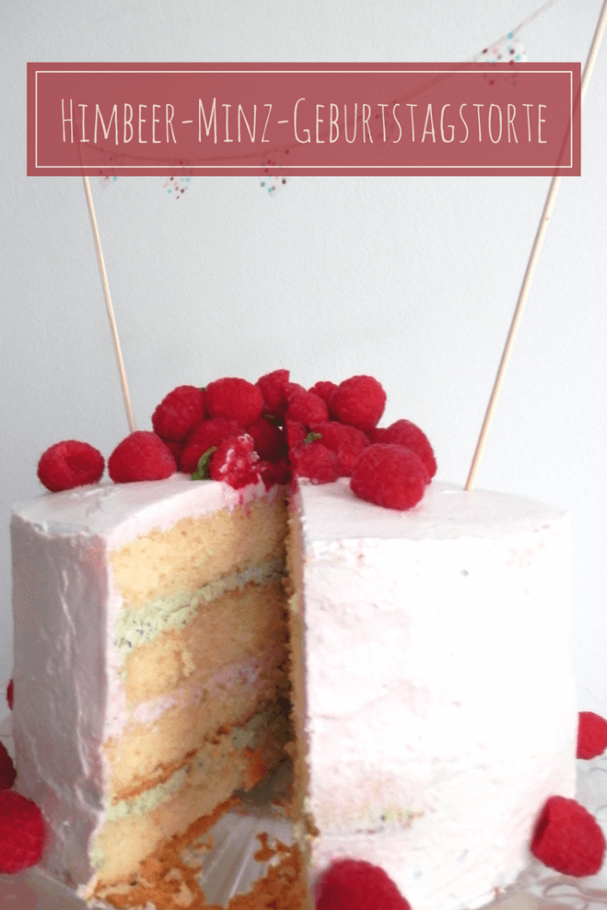 Himbeer-Minz-Geburtstagtorte