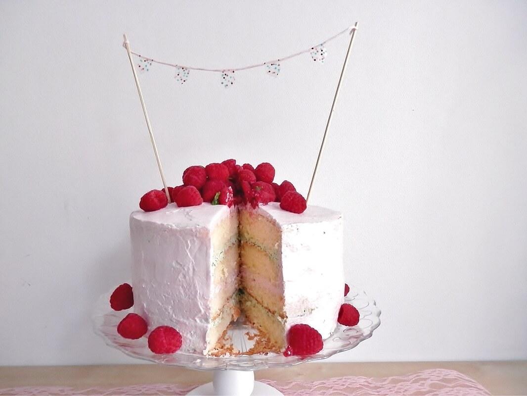 Himbeer Minz Geburtstagstorte