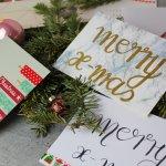 9 last Minute Weihnachtskarten