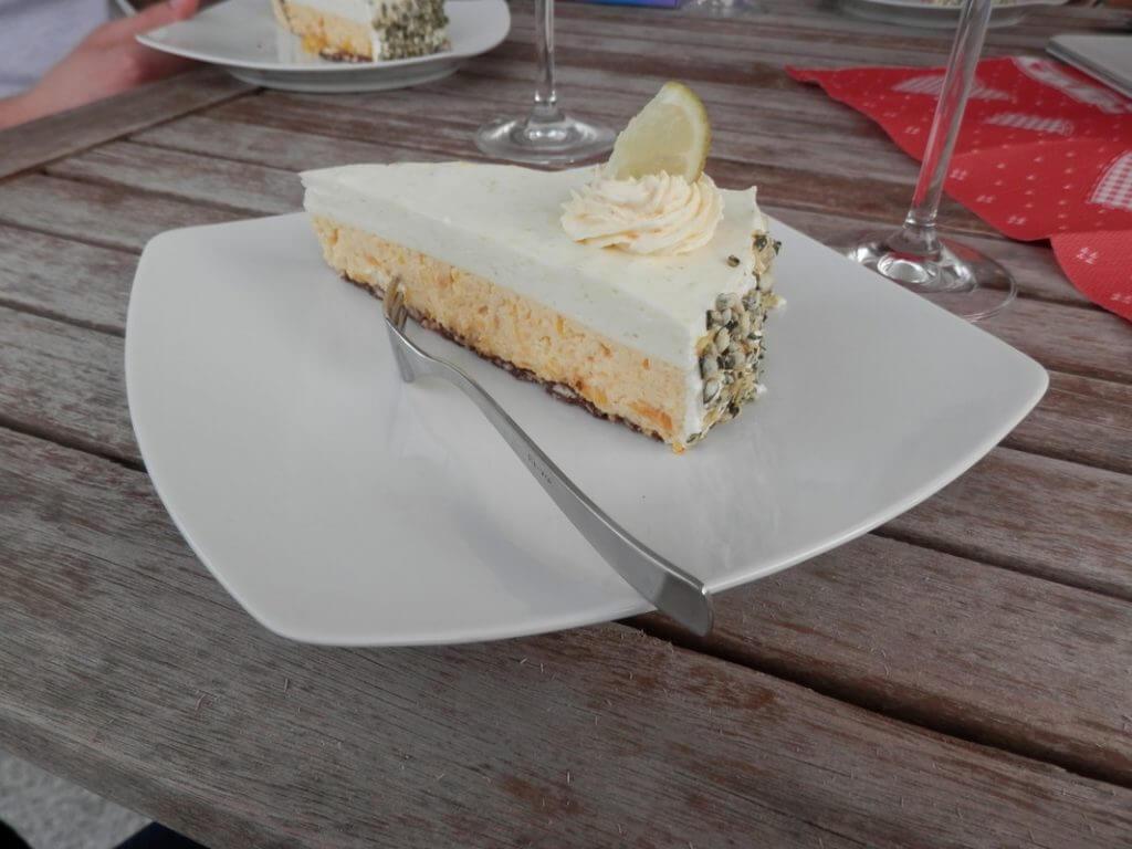 Kuchen ohne Backen Mango-Limetten-Frischkäse-Torte
