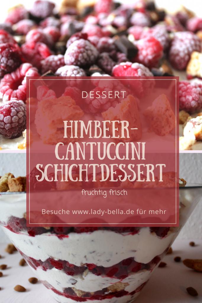 Himbeer Cantuccini Schichtdessert