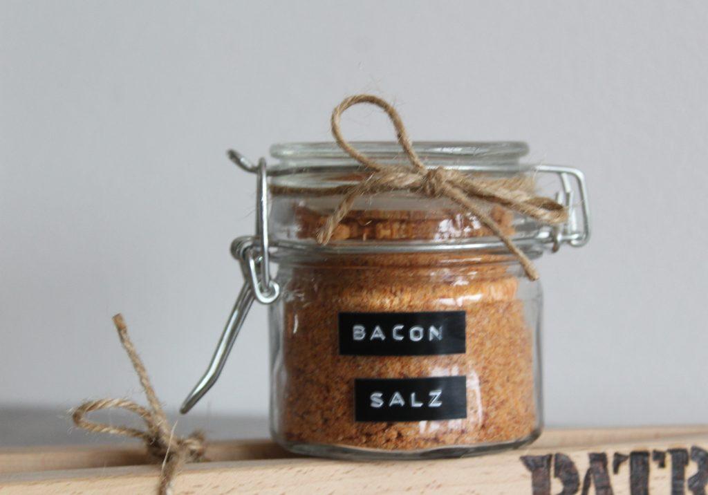 personalisierte Grillzange und Bacon-Salz selber machen, Rezept
