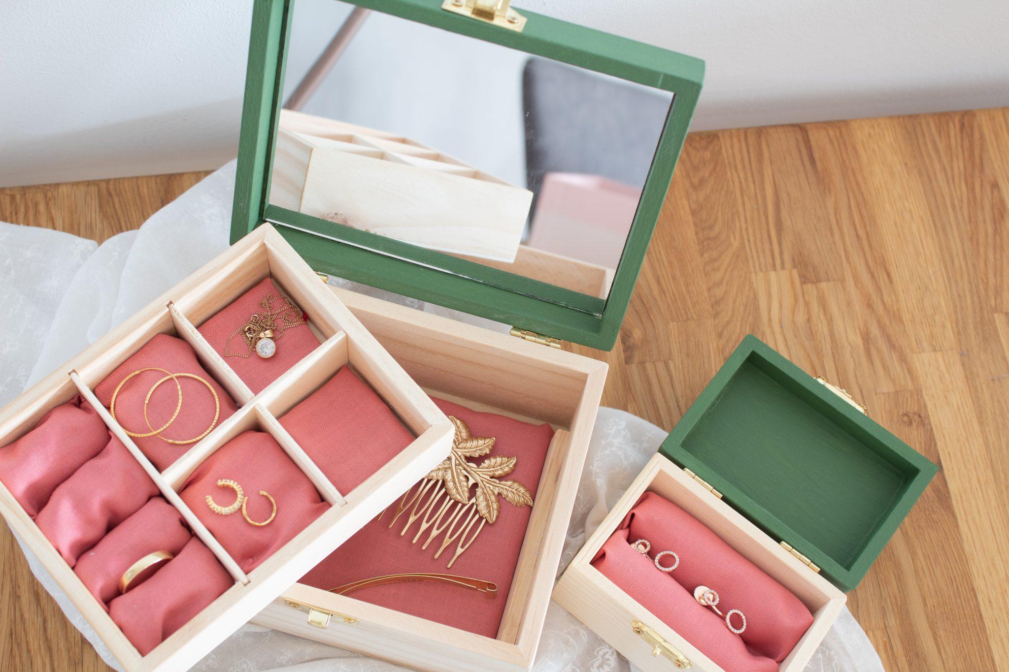 DIY Schmuckkästchen aus Holz