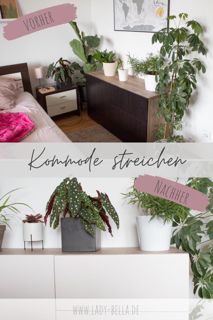 Schlafzimmer makeover - IKEA Besta Kommode streichen