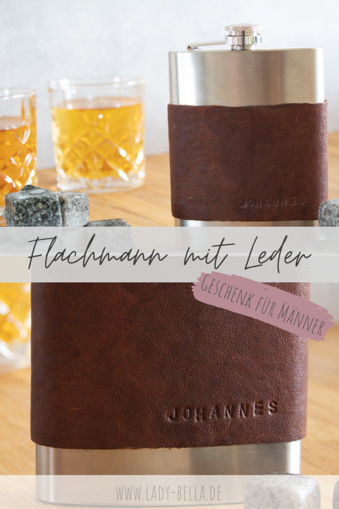 DIY Flachmann mit Leder, ideal als Geschenk für den Mann oder den Bräutigam