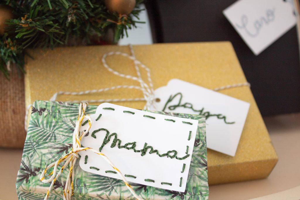 DIY individuelle Geschenkanhänger bestickt