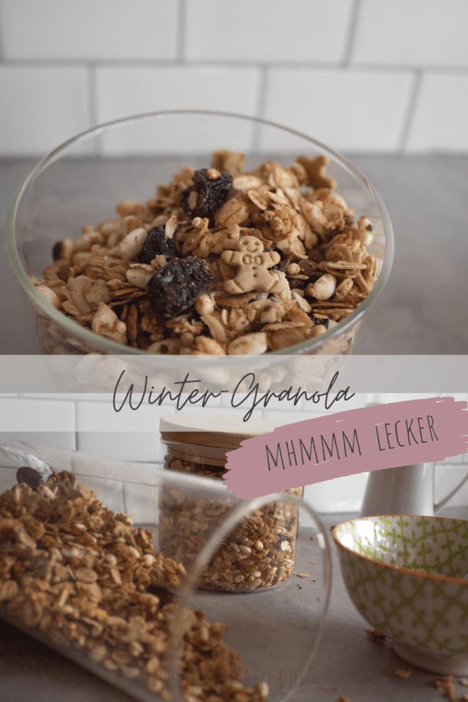 Leckeres Winter-Granola selber machen. Auch für den Advent und zu Weihnachten und zum Verschenken.