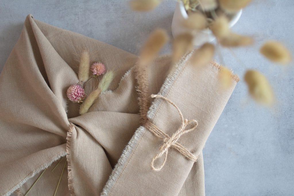 nachhaltige Geschenkverpackung, DIY Geschirrhandtuch für Foodfotografiebuch
