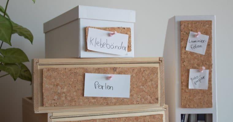 DIY-Ordnungsboxen mit Pinnwand [Blogparade]