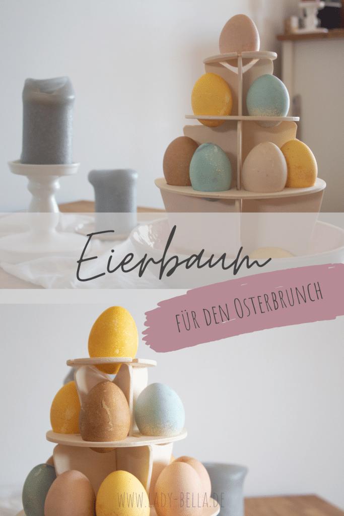 DIY Eierbaum selber bauen mit bunten Ostereiern