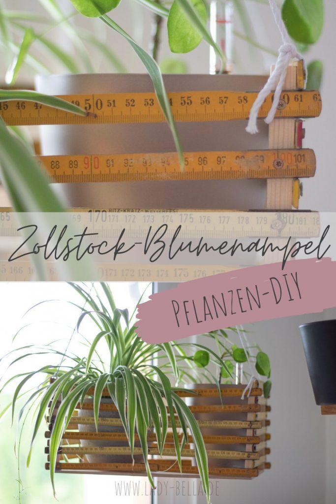 DIY-Zollstock-Blumenampel selber bauen